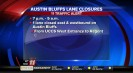 Austin Bluffs will be closed down to one lane tonight