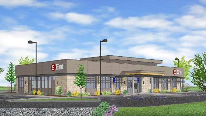 Ent Credit Union campus branch rendering