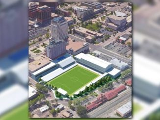 Rendering of proposed City for Championships soccer facility at Antlers Park